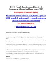 B6032 Module 3 Assignment 2 Required Assignment 1 Ethical and Legal Issues NEW.pdf