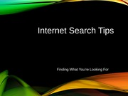 MIS HW 21 (Revised Search Tips)