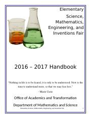 2016-2017 Elementary Science Fair Handbook final (1)