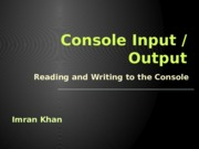 04. Console-Input-Output