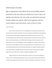 WK3D1 The Impact of Social Policy.docx