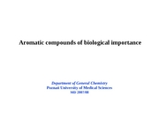 Aromatic compounds of biological importance Part 2