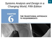Chapter 6- The Traditional Approach to Requirements
