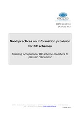 Background Reading Report_Good_Practices_Info_for_DC_schemes