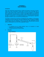 Exercise 3 (Steam Distillation)