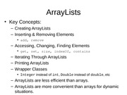 5.4 ArrayLists