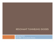 6_Resonant Tunneling Diodes 3080 Jonathan Gorlin