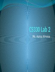 CS330 - LAB 2 (C Language Introduction)