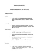 Marketing Management, MSc, 01.10.2013