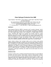 Clean_Hydrogen_Production_from_SMR_International_Conf_CO2_summit.doc