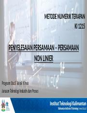 01. Persamaan Non Linear.pptx