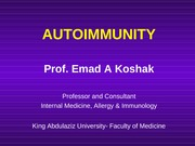Autoimmunity for 4th year 2008