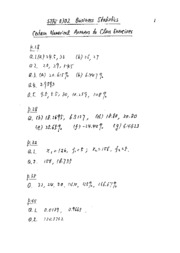 Answers to lecture numerical exercises from Prof Chiu