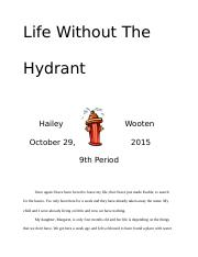 Life without the hydrant
