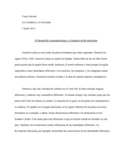 Latin American Development Essay