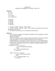 C210 Solution Assignment 2 2014