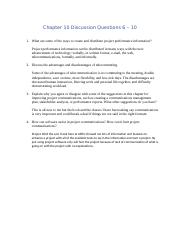 Chapter 10 Discussion Questions 6.docx