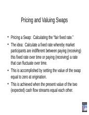 swaps Pricing PPT