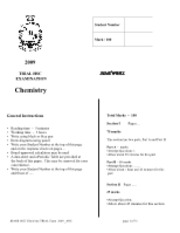 2009 JR HSC Chemistry Trials Solutions