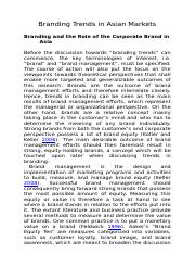 Branding Trends in Asian Market_Role of the Corporate Brand.docx