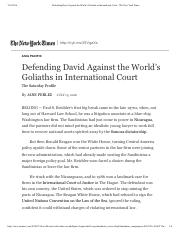 Defending David Against the World's Goliaths in International Court - The New York Times.pdf