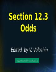 Section 12.3 (1) odds