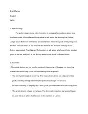 Class notes- creative writing- story analysis