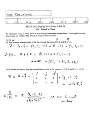 Math 2415 Final Version 13 and Solutions