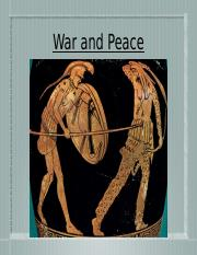 H) War and Peace in Ancient Greece.pptx