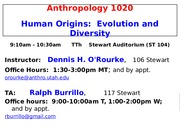 Anthropology 1020-90 Jan 13