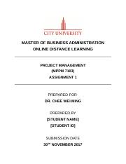 Project Management Assignment 1 201709.docx