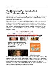 The+Huffington+Post+Grapples+With+BuzzFeed's+Ascendancy+-+CMO+Today+-+WSJ