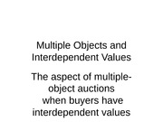 Multiple Objects and