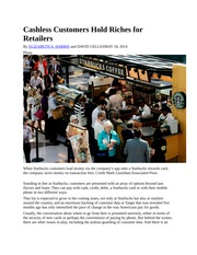 Cashless Customers Hold Riches for RetailersNYTArticle