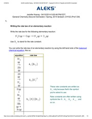 Writing the rate law of an elementary reaction