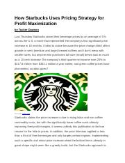 How Starbucks Uses Pricing Strategy for Profit Maximization.docx