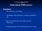 Wk. 4, Lect. 1 - Individual Differences