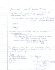 PH Notes Universal Law of Gravitation