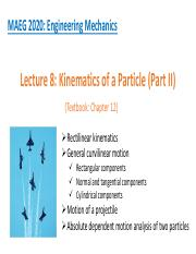 2_Kinematics of a Particle