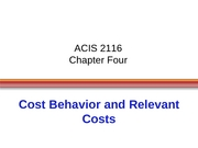 ACIS 2116 Chapter 4 Slides