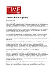 Parents Behaving Badly from TIME Magazine