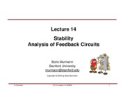 Lecture 14-Stability and Feedback