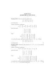 Math 107 homework solutions 8 linear equations