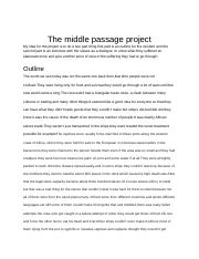 The middle passage project