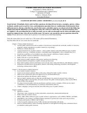 OnlinePUR3000_EXAM ONE REVIEW SHEET