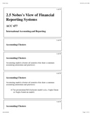 2.5 Nobes's View of Financial Reporting Systems