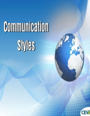 Communication Styles Power Point.ppt