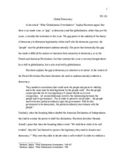 Intro to Political Science- Big Essay Final Draft
