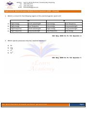 Atomic Structure Paper 1 worksheet