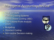 Managerial Accounting Review